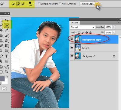 Cách thay đổi màu nền hình nền ghép hình trong photoshop