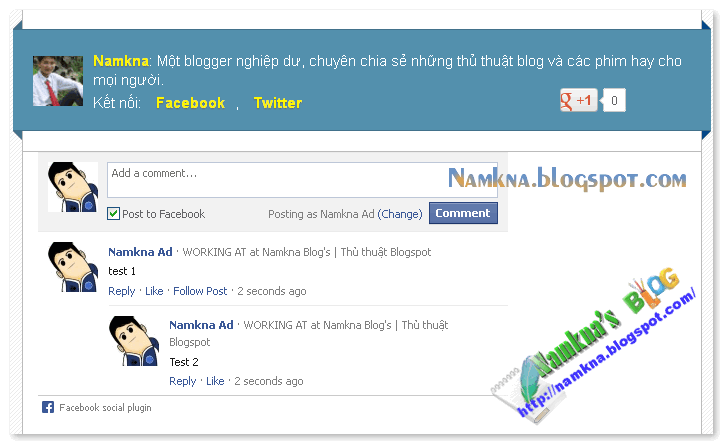 Facebook Comment Box cho Blogspot / Website