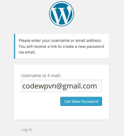 Chức năng quên mật khẩu WordPress