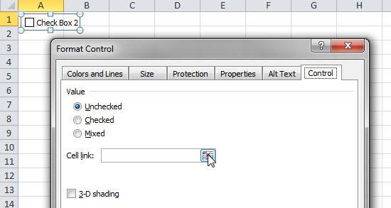 thêm hộp kiểm CheckBox bảng tính Excel 4