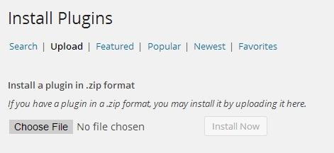 Upload plugin wordpress
