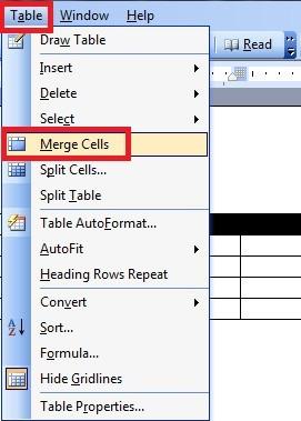 Chia và gộp ô cho các bảng trong Word - Gộp và tách table word