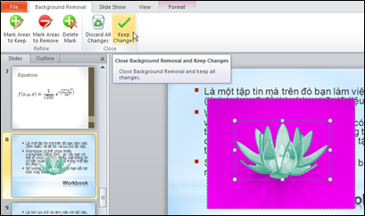 chèn watermark trong PowerPoint