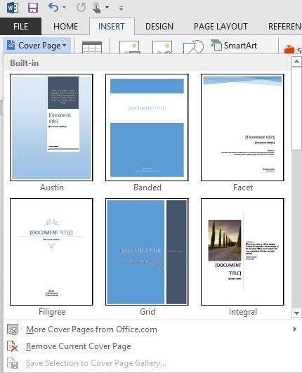 Các bước tạo trang bìa đẹp trong word