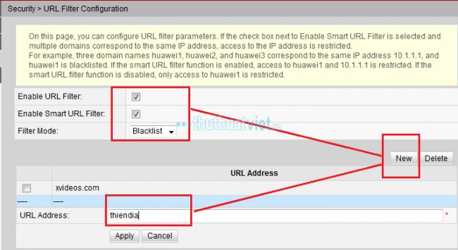 Hướng dẫn chặn web đen,website bất kỳ trên Modem - Hình 2