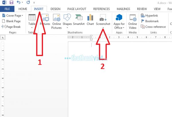 Cách chụp ảnh màn hình và chỉnh sửa ảnh trực tiếp trên Word - Hình 1
