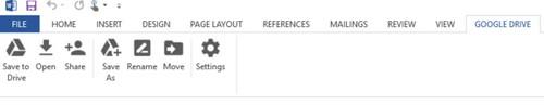 Mở tài liệu trong Google Drive trực tiếp từ Office