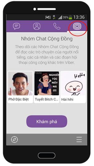 Public Chats trên Viber 1