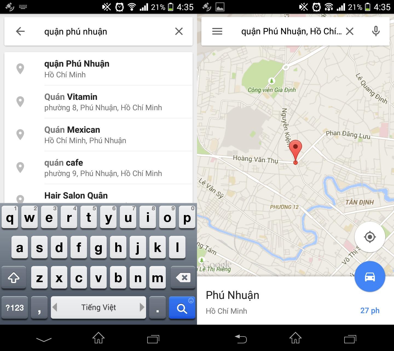 Hướng dẫn lưu bản đồ Google Map offline sử dụng khi không có Internet