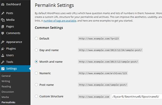 choosing permalinks