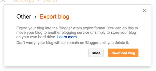 export confirm