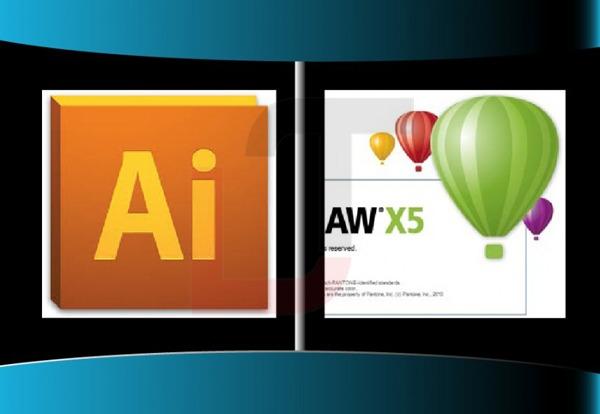 So sánh Adobe Illustrator CS6 và Corel Draw sự khác biệt với nhau