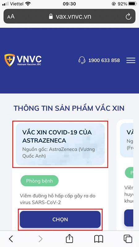 Cách đăng ký tiêm vắc-xin phòng COVID-19 online trên VNVC