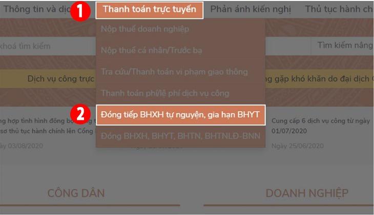 Cách gia hạn BHYT, đóng BHXH online tại nhà