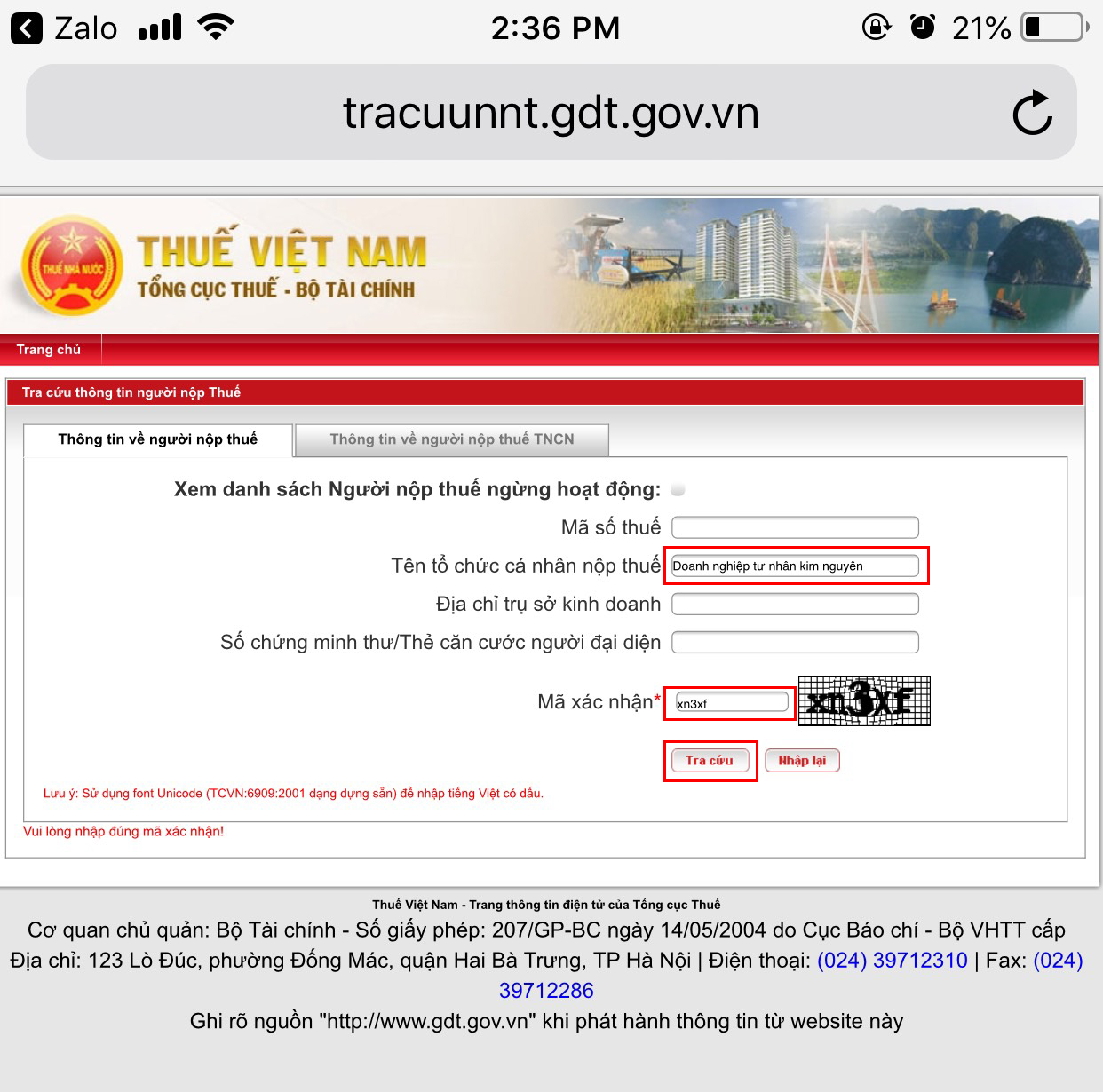 cách tra cứu mã số thuế (MST) doanh nghiệp
