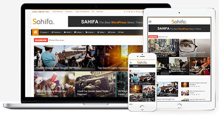 theme Sahifa wordpress